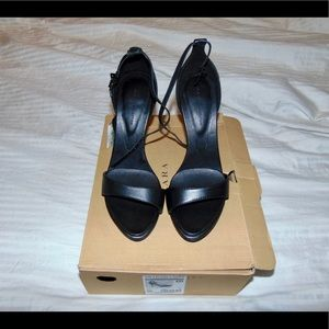 Zara Black Authentic Leather Sandal